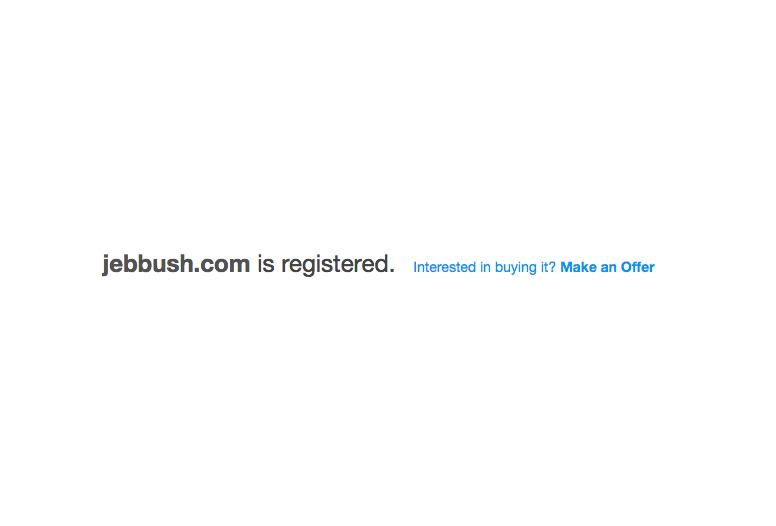 The JebBush.com Story – A Lesson to Us All